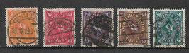 Deutsches Reich POSTHORN 205-209 gestempelt (3)