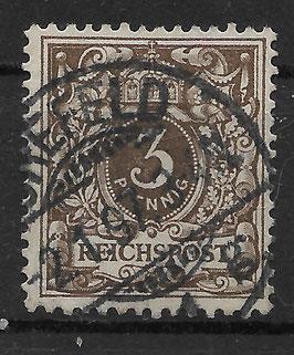 Deutsches Reich KRONE & ADLER 45b gestempelt (BPP WIEGAND) (10)
