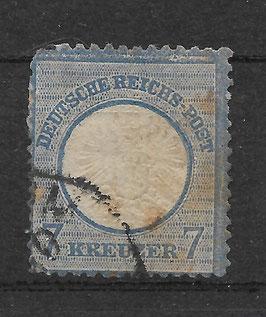 Deutsches Reich BRUSTSCHILD 26 Plattenfehler I gestempelt (BPP KRUG)
