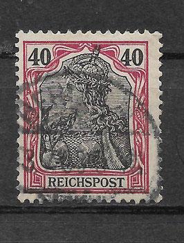 Deutsches Reich REICHSPOST 60 gestempelt (II)