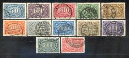 Deutsches Reich FREIMARKE ZIFFERN 246-257 gestempelt (2)