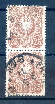 Deutsches Reich PFENNIGE 35a gestempelt als PAAR (BPP JÄSCHKE) (5)