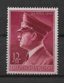 Deutsches Reich GEBURTSTAG von ADOLF HITLER 813y postfrisch (2)