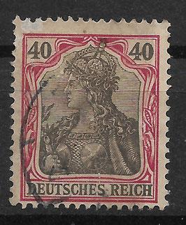 Deutsches Reich GERMANIA o. WZ 75 gestempelt (III)
