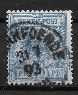 Deutsches Reich KRONE & ADLER 48b gestempelt (BPP WIEGAND)