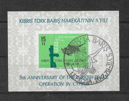 Türkisch Zypern Block 1 gestempelt