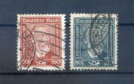 Deutsches Reich FREIMARKE 362-363 gestempelt (3)