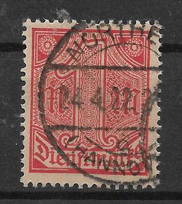 Deutsches Reich DIENST 30 gestempelt