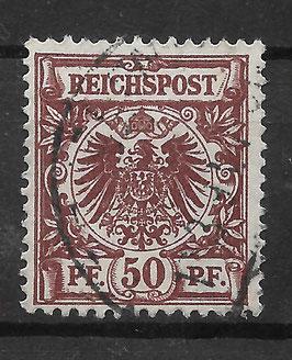 Deutsches Reich KRONE & ADLER 50ba gestempelt (BPP ZENKER) (3)