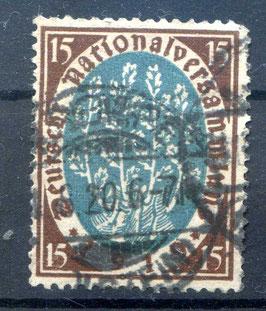 Deutsches Reich NATIONALVERSAMMLUNG 108 gestempelt (II)