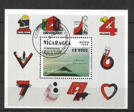 NICARAGUA Block 188 gestempelt