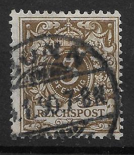 Deutsches Reich KRONE & ADLER 45a gestempelt (BPP WIEGAND) (11)