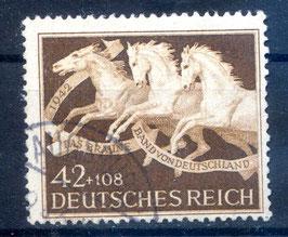 Deutsches Reich GALOPPRENNEN DAS BRAUNE BAND von DEUTSCHLAND 815 gestempelt (2)