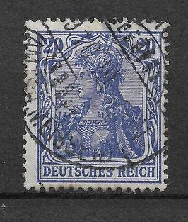 Deutsches Reich GERMANIA 87 IId gestempelt (BPP JÄSCHKE)