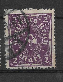 Deutsches Reich FREIMARKE POSTHORN 224a gestempelt (INFLA) (6)
