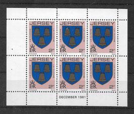 Jersey Kleinbogen 244 A postfrisch