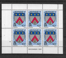 Jersey Kleinbogen 252 A postfrisch (2)