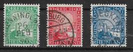 Deutsches Reich RHEINLAND 1000 JAHRE DEUTSCH 372-374 gestempelt (4)