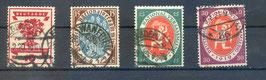 Deutsches Reich NATIONALVERSAMMLUNG 107-110 gestempelt