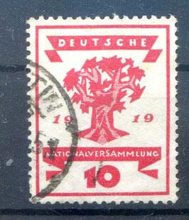 Deutsches Reich NATIONALVERSAMMLUNG 107 gestempelt (III)