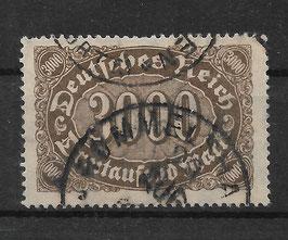 Deutsches Reich FREIMARKE ZIFFERN 254a gestempelt (INFLA) (2)