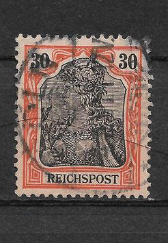 Deutsches Reich REICHSPOST 59 gestempelt (IV)
