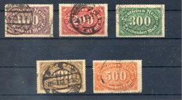 Deutsches Reich FREIMARKE 219-223 gestempelt (4)