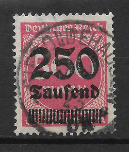Deutsches Reich FREIMARKE 295 gestempelt (INFLA)