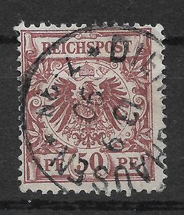 Deutsches Reich KRONE & ADLER 50dy gestempelt (BPP ZENKER) (2)