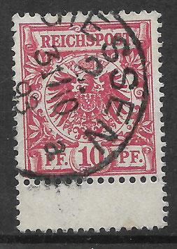 Deutsches Reich KRONE & ADLER 47b ZS gestempelt (BPP WIEGAND) (5)