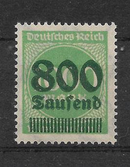 Deutsches Reich FREIMARKE 308 Ab postfrisch (INFLA)