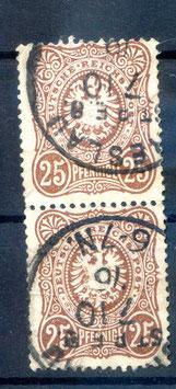 Deutsches Reich PFENNIGE 35a gestempelt als PAAR (BPP JÄSCHKE)