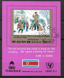 Nordkorea Block 69 gestempelt