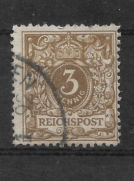 Deutsches Reich KRONE/ADLER 45a gestempelt (BPP WIEGAND) (III)