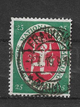 Deutsches Reich NATIONALVERSAMMLUNG 109 gestempelt
