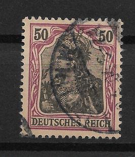 Deutsches Reich GERMANIA o. WZ 76 gestempelt (II)