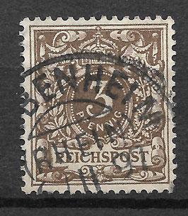 Deutsches Reich KRONE/ADLER 45b gestempelt (BPP WIEGAND)
