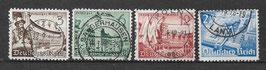 Deutsches Reich LEIPZIGER FRÜHJAHRSMESSE 739-742 gestempelt