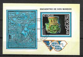 NICARAGUA Block 181 gestempelt