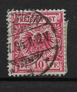 Deutsches Reich KRONE/ADLER 47c gestempelt (BPP WIEGAND) (II)