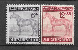 Deutsches Reich GALOPPRENNEN GROßER PREIS von WIEN 857-858 postfrisch (3)