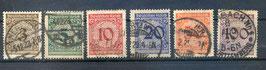 Deutsches Reich FREIMARKE 338-343 gestempelt
