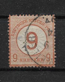 Deutsches Reich BRUSTSCHILD 30 gestempelt (BPP KRUG)