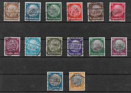 Deutsches Reich FREIMARKE PAUL v. HINDENBURG 482-495 gestempelt (2)