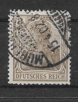 Deutsches Reich GERMANIA 69a I gestempelt (BPP JÄSCKHE)