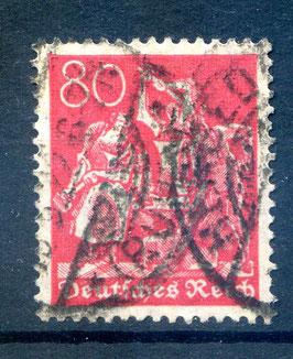 Deutsches Reich FREIMARKE 166 gestempelt