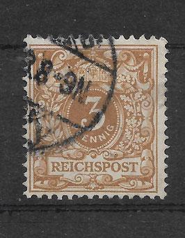 Deutsches  Reich KRONE & ADLER 45c gestempelt (BPP WIEGAND) (2)