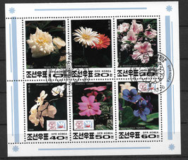 Nordkorea Kleinbogen 3241-3246 gestempelt