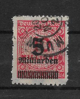 Deutsches Reich FREIMARKE 334 BP gestempelt (BPP BAUER)