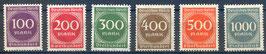 Deutsches Reich FREIMARKE ZIFFERN 268-273 postfrisch